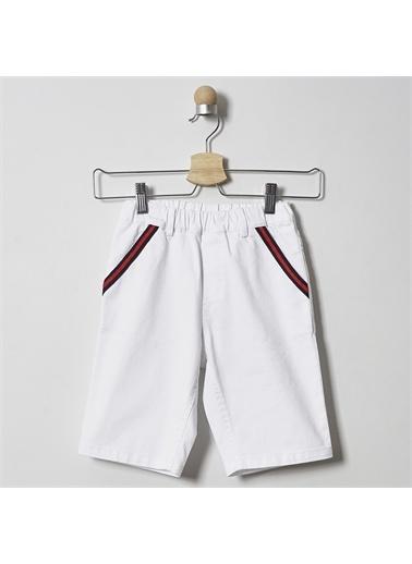 Panço Erkek Çocuk Bermuda 2011BK07014 Beyaz